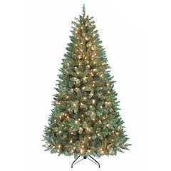 Kurt Adler 7-ft. Pre-Lit Point Pine Artificial Christmas Tree
