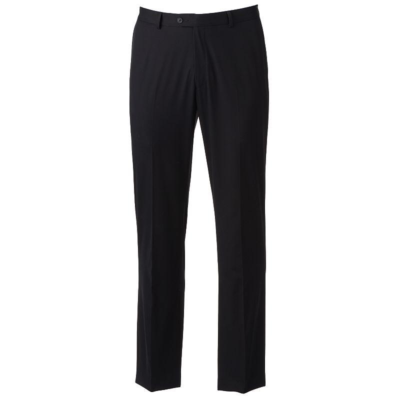 Apt. 9 Slim-Fit Black Stretch Dress Pants - Men