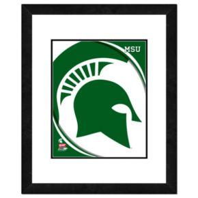 "Michigan State Spartans Team Logo Framed 11"" x 14"" Photo"