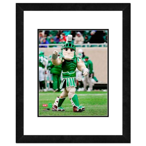 "Michigan State Spartans Mascot Framed 11"" x 14"" Photo"
