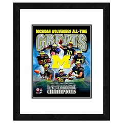 Michigan Wolverines All-Time Greats Framed 11' x 14' Photo