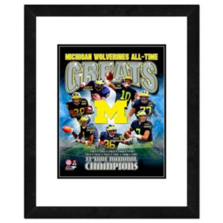 """Michigan Wolverines All-Time Greats Framed 11"""" x 14"""" Photo"""