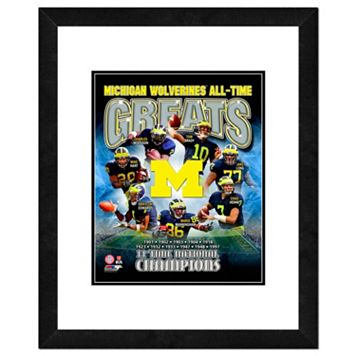Michigan Wolverines All-Time Greats Framed 11