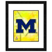 Michigan Wolverines Team Logo Framed 11' x 14' Photo