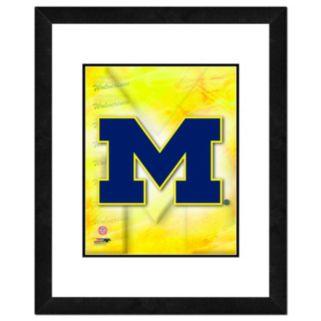 "Michigan Wolverines Team Logo Framed 11"" x 14"" Photo"