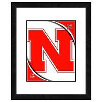 Nebraska Cornhuskers Team Logo Framed 11