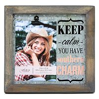 Fetco Avadon ''Keep Calm You Have Southern Charm'' 4'' x 6'' Frame