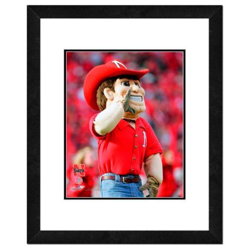 """Nebraska Cornhuskers Mascot Framed 11"""" x 14"""" Photo"""