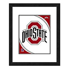 Ohio State Buckeyes Team Logo Framed 11' x 14' Photo