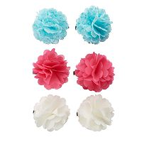 Girls 4-16 Chiffon Flower Hair Clips