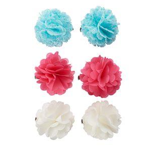 Girls 4-16 Chiffon Flower Hair Clips