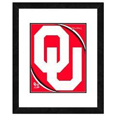 Oklahoma Sooners Team Logo Framed 11' x 14' Photo