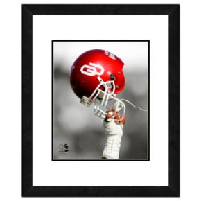 "Oklahoma Sooners Team Helmet Framed 11"" x 14"" Photo"