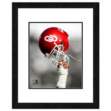 Oklahoma Sooners Team Helmet Framed 11