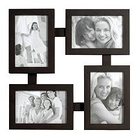 Melannco 4-Opening 4'' x 6'' Totem Collage Frame