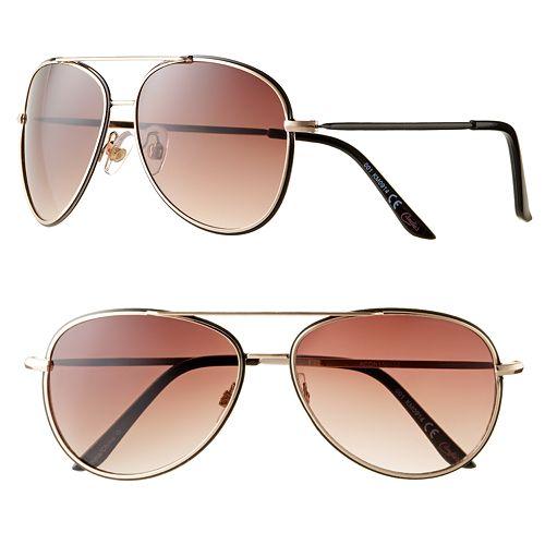 Candie's® Logo Double Rim Aviator Sunglasses - Women
