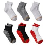 Boys GOLDTOE® 6-pk. Ultra Tec Quarter-Crew Socks