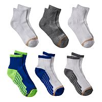 Boys GOLDTOE 6-pk. Ultra Tec Quarter-Crew Socks