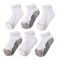Boys GOLDTOE 6-pk. Ultra Tec Quarter-Crew Socks