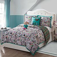 Girls Dollie & Me Zoe Reversible Comforter Set