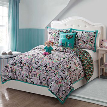 Girls Dollie & Me Zoe Reversible Comforter Set