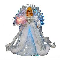 Kurt Adler 12-in. LED & Fiber Optic Angel Christmas Tree Topper