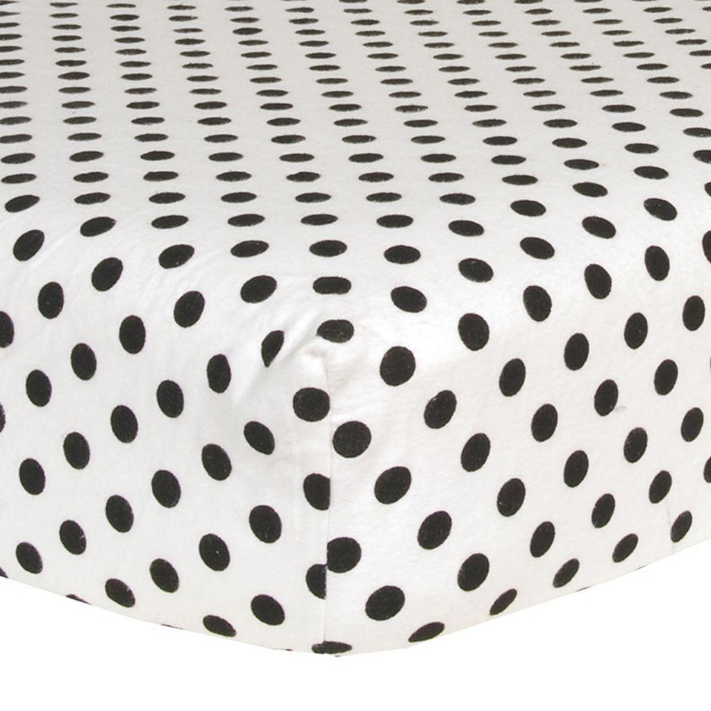 Trend Lab Flannel Crib Sheet