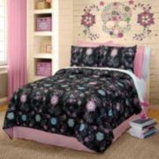 Veratex Rainbow Skulls Comforter Set