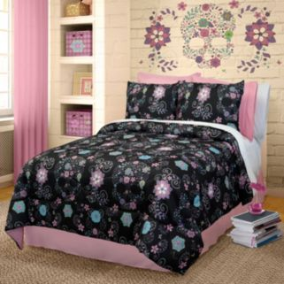 Veratex Rainbow Skulls Comforter Set