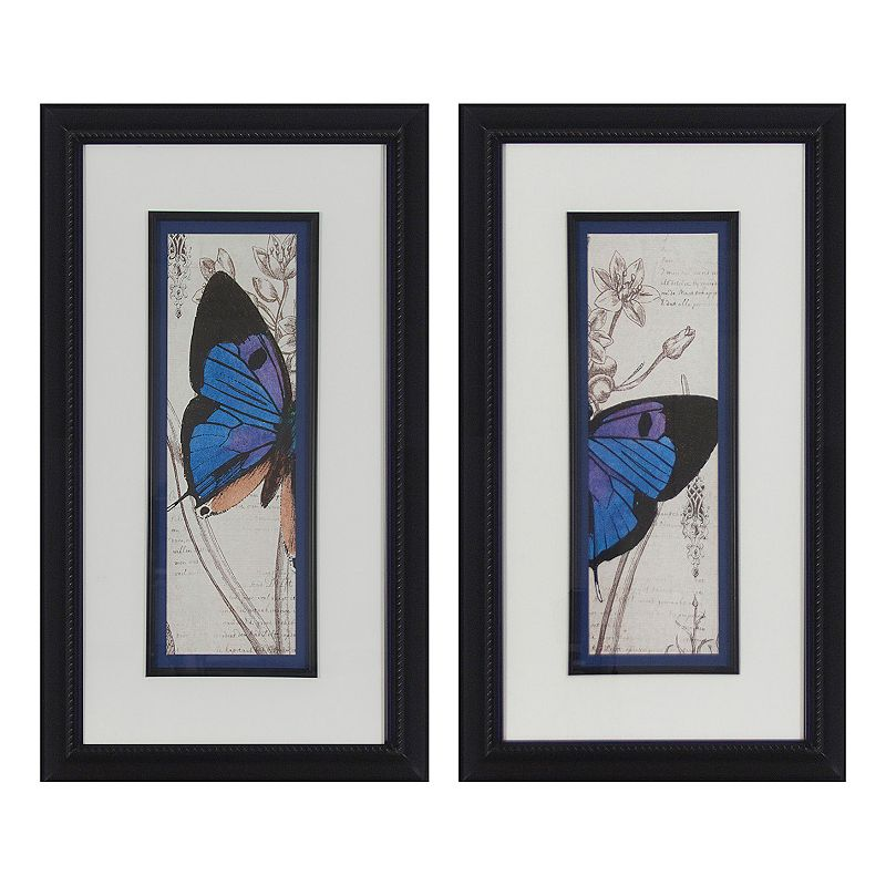 Decor Therapy Butterfly Panels 2-piece Framed Wall Art Set