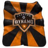 Logo Brand Houston Dynamo Raschel Throw Blanket