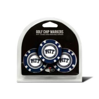 Team Golf Pitt Panthers 3-pack Poker Chip Ball Markers