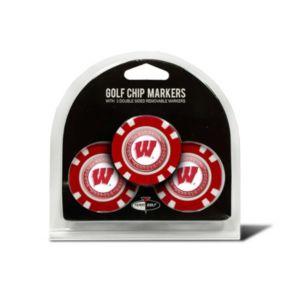 Team Golf Wisconsin Badgers 3-pack Poker Chip Ball Markers