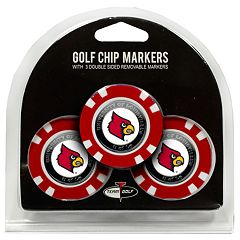 Team Golf Louisville Cardinals 3-pack Poker Chip Ball Markers