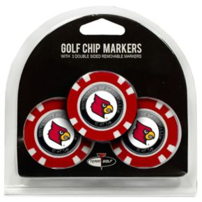 Team Golf Louisville Cardinals 3-pack Poker Chip Ball Markers