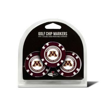 Team Golf Minnesota Golden Gophers 3-pack Poker Chip Ball Markers