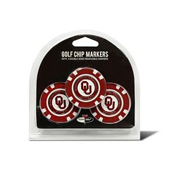 Team Golf Oklahoma Sooners 3-pack Poker Chip Ball Markers