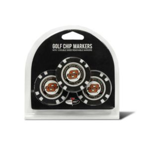 Team Golf Oklahoma State Cowboys 3-pack Poker Chip Ball Markers