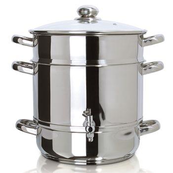 Euro Cuisine Stainless Steel Stovetop Juicer
