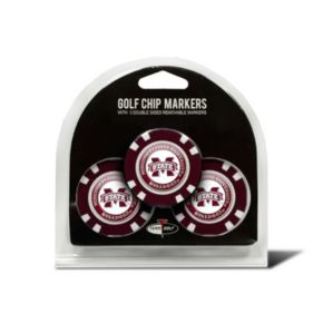 Team Golf Mississippi State Bulldogs 3-pack Poker Chip Ball Markers