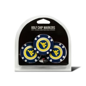 Team Golf West Virginia Mountaineers 3-pack Poker Chip Ball Markers