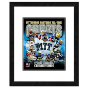 """Pitt Panthers All-Time Greats Framed 11"""" x 14"""" Photo"""