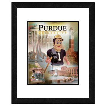 Purdue Boilermakers Mascot Framed 11