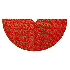 Kurt Adler Holly Christmas Tree Skirt