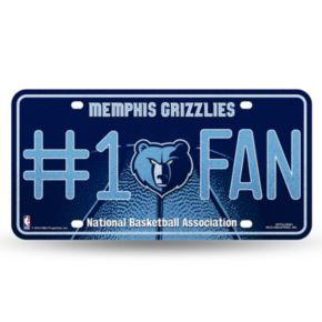 Memphis Grizzlies #1 Fan Metal License Plate