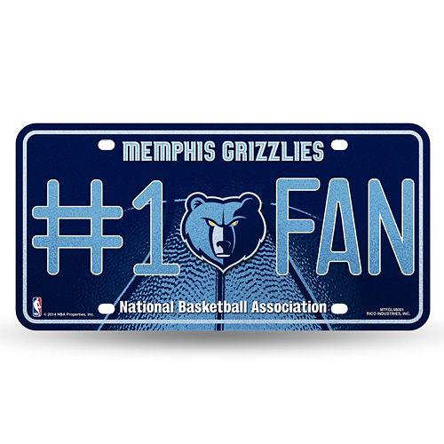 Memphis Grizzlies #1 Fan Metal License Plate