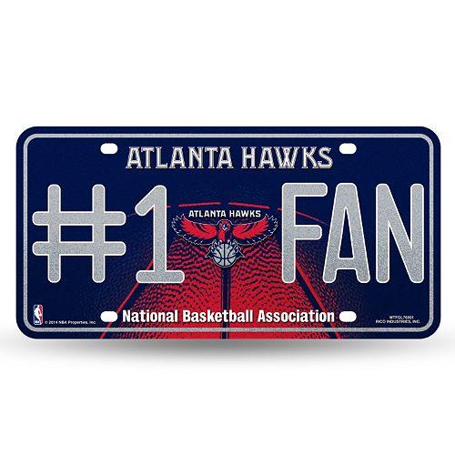 Atlanta Hawks #1 Fan Metal License Plate