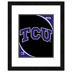 TCU Horned Frogs Team Logo Framed 11' x 14' Photo