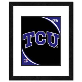 "TCU Horned Frogs Team Logo Framed 11"" x 14"" Photo"