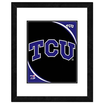 TCU Horned Frogs Team Logo Framed 11